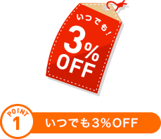 POINT1 いつでも3%OFF